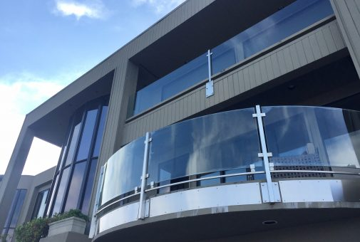 Glass & Steel Balcony Fabrication Cornwall